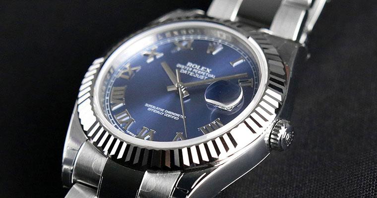 Rolex Datejust II Steel Blue Dial Roman Markers 116334 Swiss