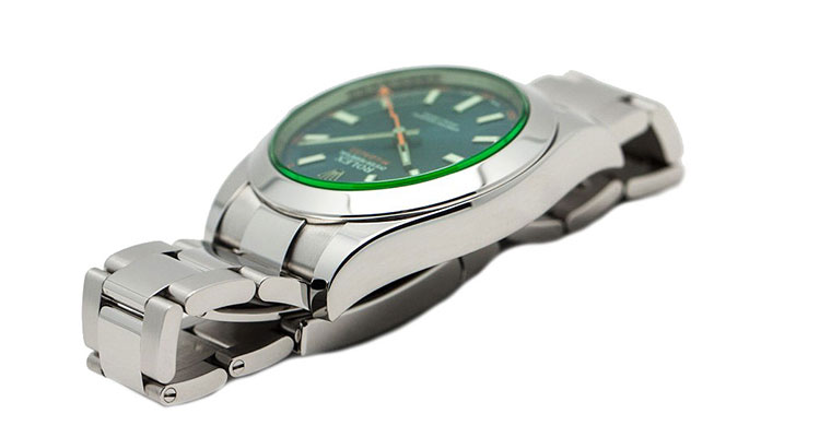 Rolex Milgauss Black Dial Green Crystal 116400